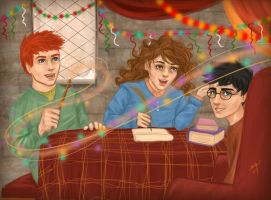 HP-Christmas break by Starlettegurly