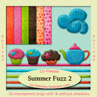 Summer Fuzz mini kit -part 2 by Kathery