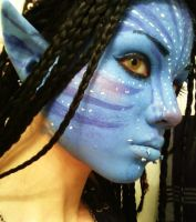 Neytiri Cosplay Facial Test by UndercoverEnvy