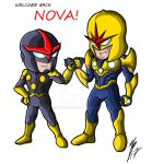 Chibi Nova's - Welcome Back! by GuyverC