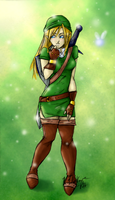 Lady Link by MangaMageBlue
