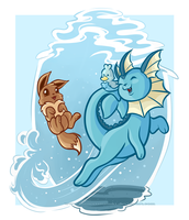 Eevee Evolutions - Vaporeon by ImmortalTanuki