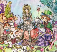 Alice In Wonderland by DarkAngeL383
