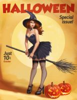 Vintage witch. by victter-le-fou