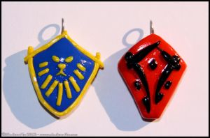 Tushui and Huojin keychains by Skadi-r