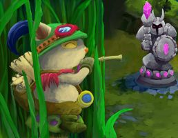 Teemo Waiting by dragonrage-