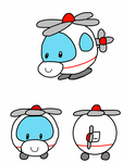 Squishable helicopter by thetoonmanjoe