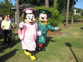 mickey and minnie grads by crochetbelle