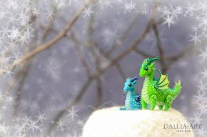 Couple of dragons (sold) by dallia-art