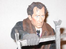 Peter Cushing as Van Helsing Bust 1 by RoyPrince