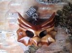 Wooden owl head pendant. by JOVictory