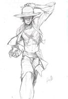 Monkey D. Luffy - Pencils by AnthonyGonzalesClark