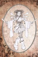 Steampunk Angel Sketch by Karla-Chan