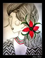 Woman with Flowers -II- by iremtural