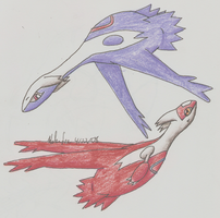 Latias and Latios by Jet-the-hawk
