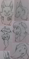 sketches OC by DesmodiaDesigns