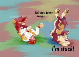 This isn't funny Wing by Sharlia