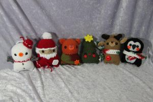 Holiday Amigurumi Friends by CraftedKansas