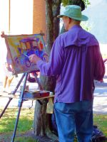 Painting in the Park by MFDonovan