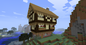 Minecraft Tudor House by NiegelvonWolf