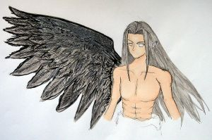 One winged angel by xXBloodBerryJamXx