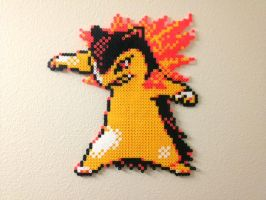 Typhlosion - Fuse Beads by chocovanillite