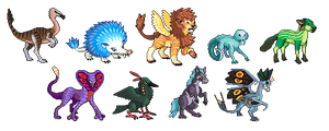 Monster Trainer Sprites Preview by Involuntary-Twitch