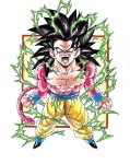 Dragonball GT  Colour Goku SS4 V2 by TriiGuN