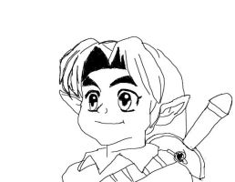 my young link tabelet drawing by e-rock95