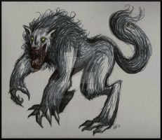 Scribbly Werewolf by AudInk