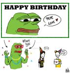 Pepe Birthday card by Nutellamonster