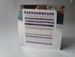 Loose Ends: Purple and Silver by HypotheticalTextiles
