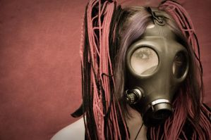 Gas Mask Girl by JCannatella