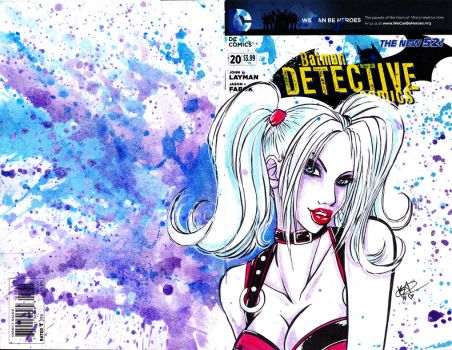 Harley Quinn Variant Cover by sirusianne