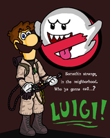 Luigi the Ghostbuster by AwesomeCAS