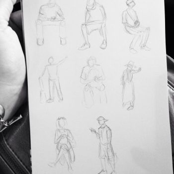 Dailies Day 160 - Train Gestures by Kaos0328