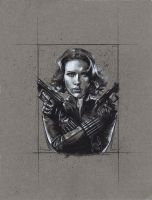 Scarlett Johansson as Black Widow by JeffLafferty