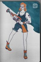 Gun girl by Cigare-volant