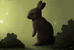 Bunny in green lights by Svataben