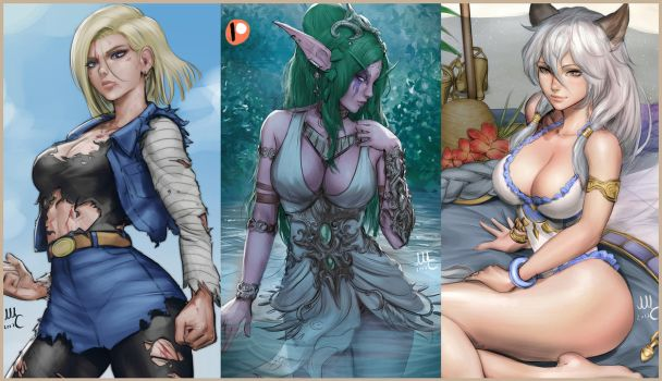 Patreon preview - August by Sciamano240