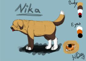 CE: Nika ref sheet by JiiBee