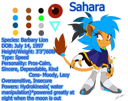 Sahara the Lion Reference-2015 by SEGAmastergirl