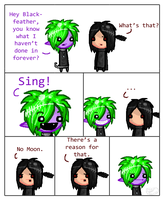 Random Comic With Blackfeather And Moonbird by RoomsInTheWalls