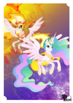 Sunny and Sun by LightDragon87