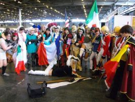 Axis Powers Hetalia cosplay group -Japan Expo 2012 by Mia-Lapera