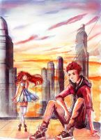 Glittering Peaches Art Trade by angel407