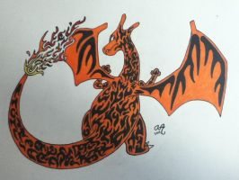 King of the Fire types - Charizard by DarkDragonRising