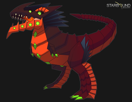 Starbound - Pyrosaurus Rex by Dragonith