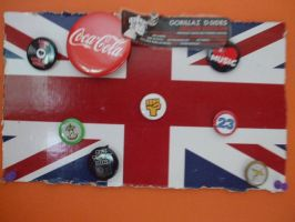 The Union Jack and some pins. by Houselurver11