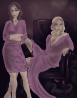 Hannibal palette challenge 5 - Alana and Bedelia by FuriarossaAndMimma